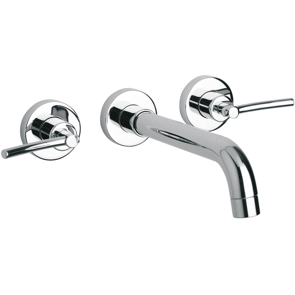Morellino double lever handle wall mounted Bathroom lavatory faucet (1.2 GPM) - AGM Home Store LLC