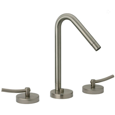 Morellino triple hole double lever handle widespread lavatory faucet, Brushed Nickel - AGM Home Store LLC