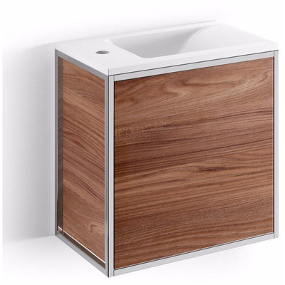 LB Grela Bathroom Vanity Cabinet Set Single Sink Laminated Wood Push and Pull - AGM Home Store LLC