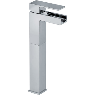 Kome waterfall single handle Bathroom vessel filler tall faucet (1.2 GPM) - AGM Home Store LLC