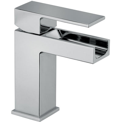 Kome waterfall single handle Bathroom lavatory faucet (1.2 GPM) - AGM Home Store LLC