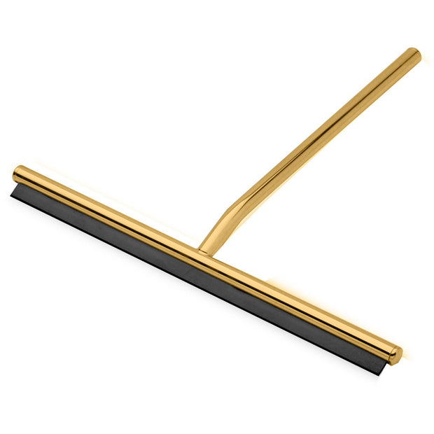 Round Wiper Blade Squeegee for Shower Glass, Windows, Brass - AGM Home Store LLC