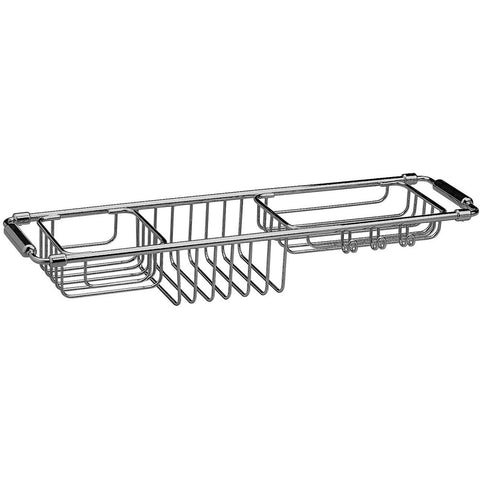Bathtub Caddy Tray with Extending Sides Tub Tray Holder Rack Bath Storage, Brass - AGM Home Store LLC