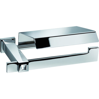 Moonlight Toilet Paper Holder W/ Lid Swarovski Crystals - Chrome - AGM Home Store LLC