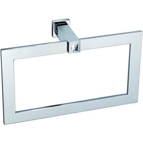 Moonlight Rectangular Towel Ring W/ Swarovski Crystals - Chrome - AGM Home Store LLC