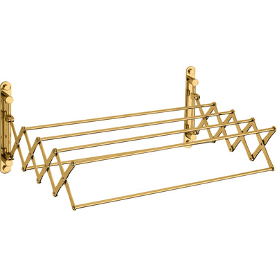 "Brass Shelf Towel Hanging Bathroom Storage Extendable Towel Rack 21"" Long - AGM Home Store LLC"