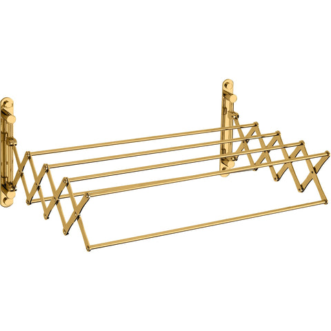 Brass Shelf Towel Hanging Bathroom Storage Extendable Towel Rack 21 in. Long - AGM Home Store LLC