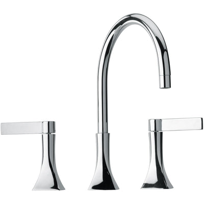 Elix triple hole double lever handle widespread Bath lavatory faucet (1.2 GPM) - AGM Home Store LLC
