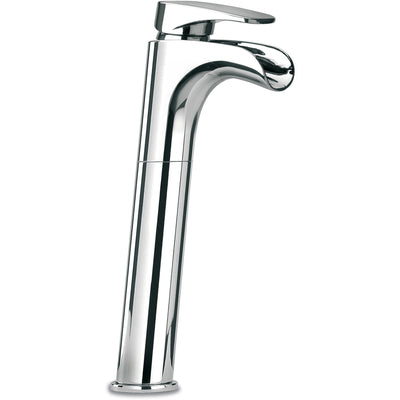 Novello tall waterfall single lever handle lavatory vessel filler (1.2 GPM) - AGM Home Store LLC