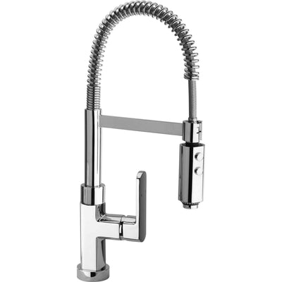 Dax single handle kitchen faucet with spring spout in Chrome - AGM Home Store LLC