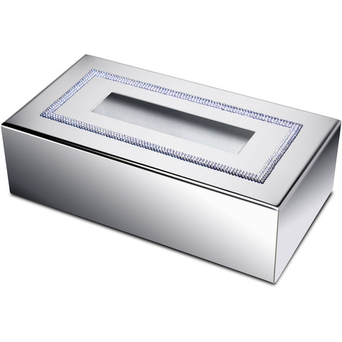 ShineLight Rectangular Tissue Box Cover W Swarovski Crystals