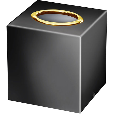Black Square Tissue Box Holder Cover Tray Dispenser Tissue Case, Solid Brass - AGM Home Store LLC