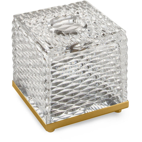 Luxe Boutique Tissue Box Holder Cover Tray Dispenser Case, Hand Blown Glass - AGM Home Store LLC
