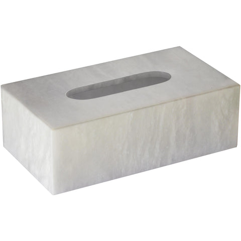 Alabaster Rectangular Tissue Box Holder Cover Tray Dispenser Tissue Case - AGM Home Store LLC