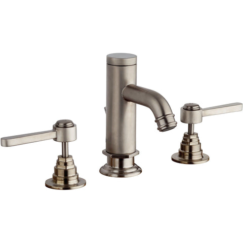 LaToscana Firenze triple hole double lever handle widespread Bath lavatory faucet (1.2 GPM) - AGM Home Store LLC