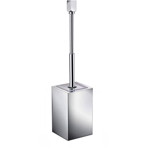 ShineLight Square Wall Mounted Toilet Brush Holder W/ Swarovski Crystals