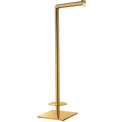 Standing Brass Toilet Paper Holder Bathroom Storage Spare Tissue Roll Dispenser - AGM Home Store LLC