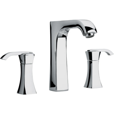 Lady triple hole double lever handle roman tub filler faucet - AGM Home Store LLC