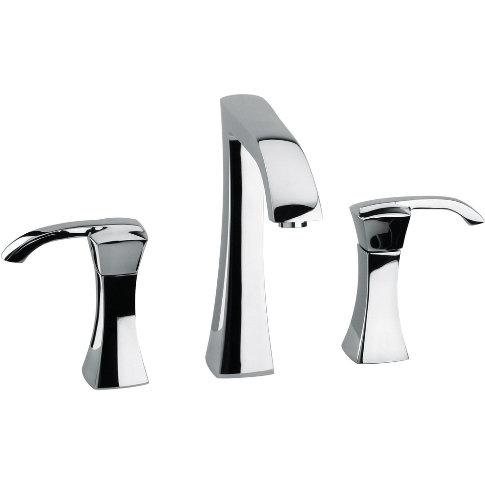 Lady triple hole double lever handle widespread Bath lavatory faucet (1.2 GPM) - AGM Home Store LLC