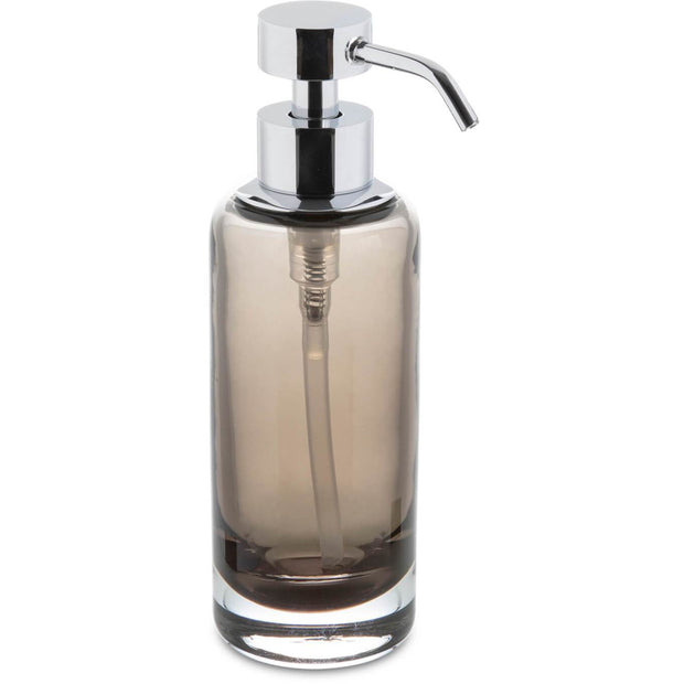 Fume Free Standing Glass Pump Soap Lotion Dispenser for Bathroom, Chrome - AGM Home Store LLC