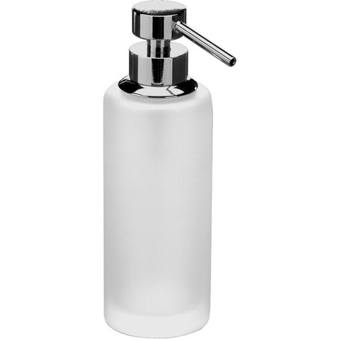Addition Frosted Glass Table Pump Liquid Soap Lotion Dispenser for Bath, Kitchen - AGM Home Store LLC