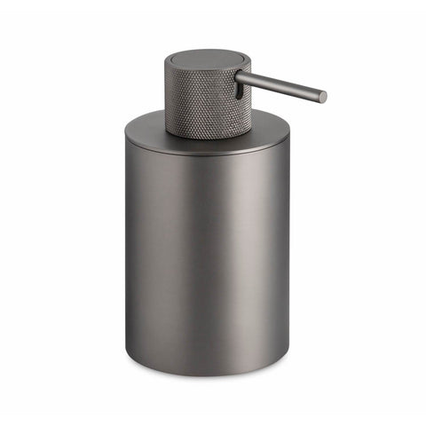 Urban Free Standing Graphite Pump Soap Lotion Dispenser for Bathroom, Brass - AGM Home Store LLC