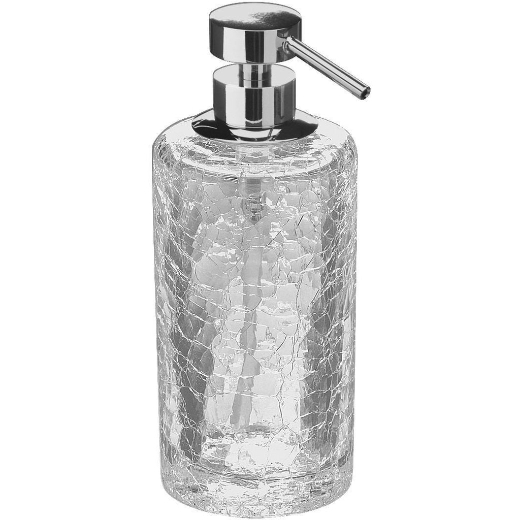 Glass bathroom soap dispenser - Addition Crackled Glass Table Pump Liquid Soap Lotion Dispenser For Bath Kitchen