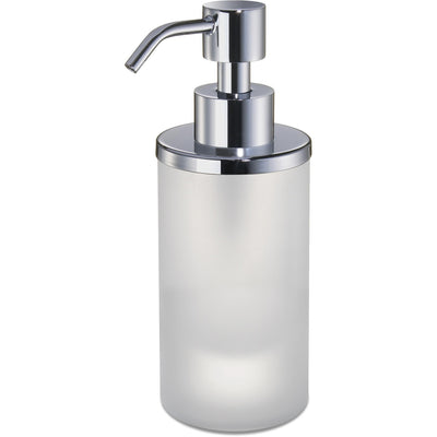 Addition Frosted Glass Small Table Pump Liquid Soap Lotion Dispenser - AGM Home Store LLC