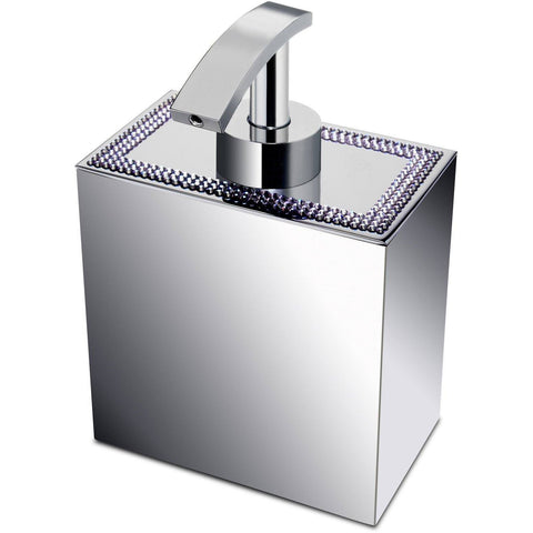 ShineLight Square Soap Dispenser W/ Swarovski Crystals - AGM Home Store LLC