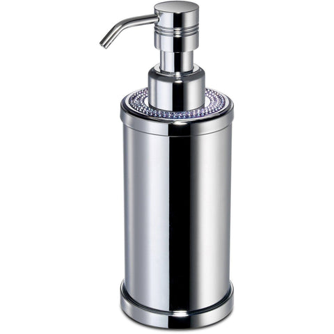ShineLight Round Soap Dispenser W/ Swarovski Crystals - AGM Home Store LLC