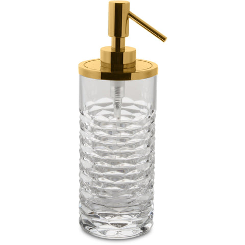 Luxe Table Pump Liquid Soap Lotion Dispenser Bathroom, Kitchen, Hand Blown Glass - AGM Home Store LLC