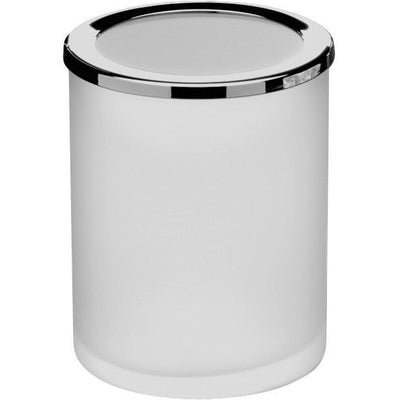 Addition Frosted Glass Round Table Toothbrush Toothpaste Holder Bathroom Tumbler - AGM Home Store LLC