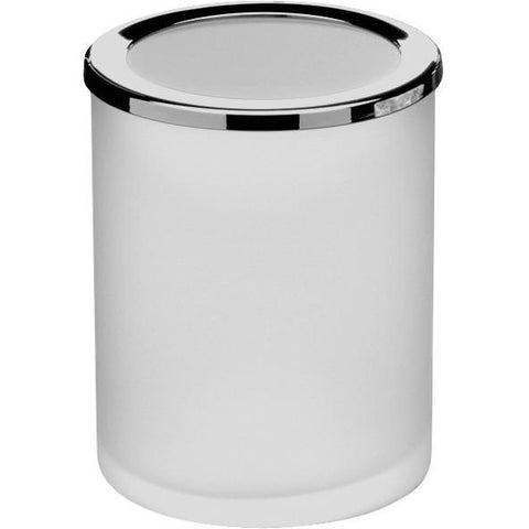 LB Round Step Trash Can Stainless Steel Wastebasket W/ Lid Polished Chrome 3L