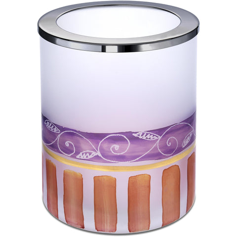 DecoRound Hand Decorated Glass Table Toothbrush Toothpaste Holder Bath Tumbler - AGM Home Store LLC
