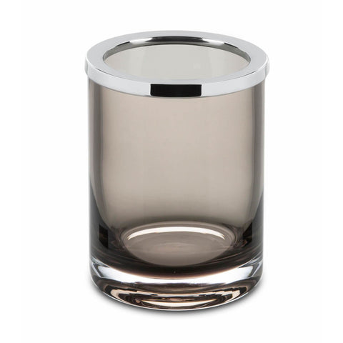 Fume Glass Free Standing Toothbrush Toothpaste Holder Tumbler Bathroom, Chrome - AGM Home Store LLC