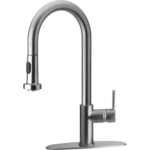 LaToscana Morgana single handle pull-down spray kitchen faucet in Chrome - AGM Home Store LLC