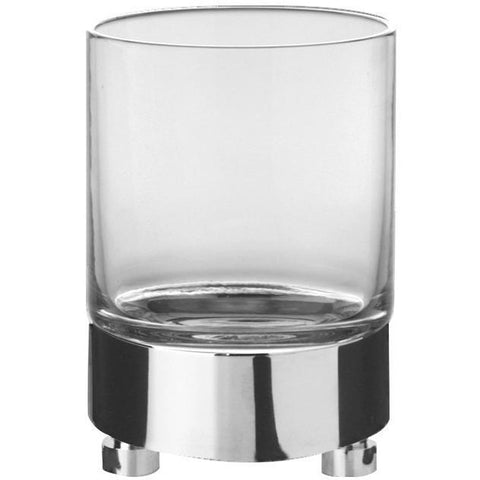 Addition Clear Glass Round Table Toothbrush Toothpaste Holder Bathroom Tumbler - AGM Home Store LLC
