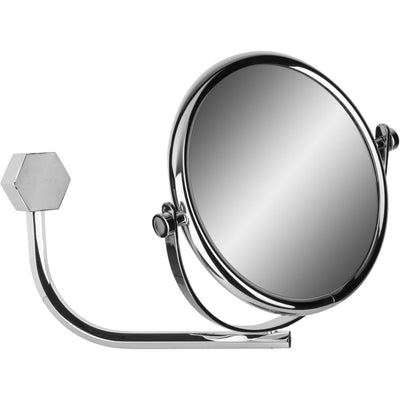 Hexagonal Wall Double Sided Swing Cosmetic Makeup Magnifying Mirror - AGM Home Store LLC