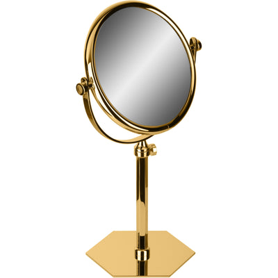 Hexagonal Table Double Sided Extendable Cosmetic Makeup Magnifying Mirror - AGM Home Store LLC