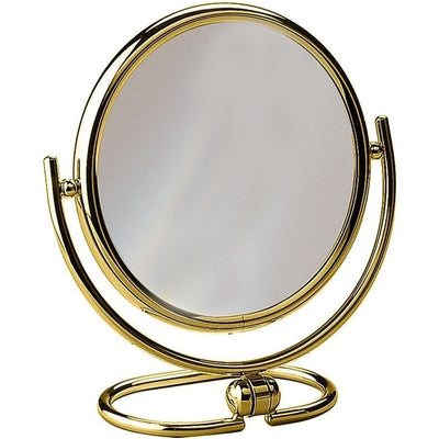 Elegant Round Table Top Double Sided Cosmetic Makeup Magnifying Mirror - AGM Home Store LLC