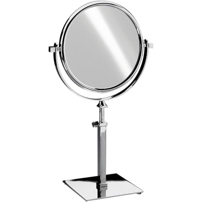 "Elegant Square Table Top Double Sided Cosmetic Makeup Magnifying Mirror - Extends 18.5"" - AGM Home Store LLC"