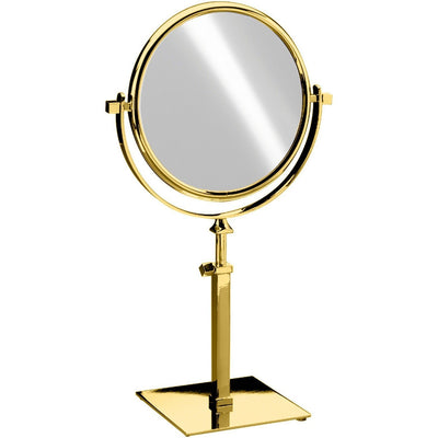 "Elegant Square Table Top Double Sided Cosmetic Makeup Magnifying Mirror - Extends 17.1"" - AGM Home Store LLC"