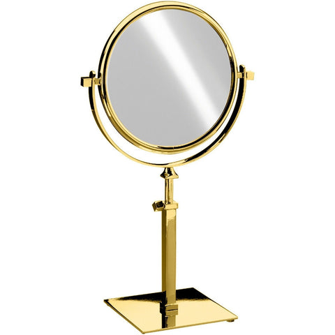 Elegant Square Table Top Double Sided 5X Cosmetic Makeup Magnifying Mirror - Extends 17.1 in. - AGM Home Store LLC