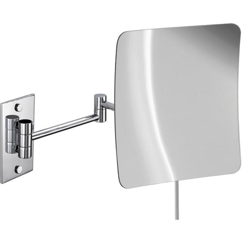 "Elegant Wall Single Sided Swing Extendable 10"" Makeup Magnifying Cosmetic Mirror - AGM Home Store LLC"