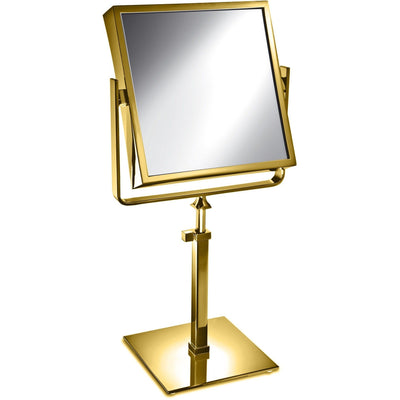 Elegant Square Table Top Double Sided Cosmetic Makeup Magnifying Mirror - AGM Home Store LLC