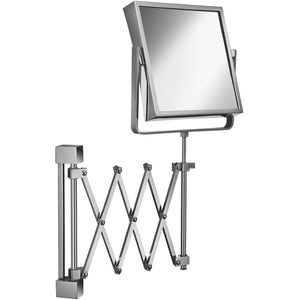 Elegant Wall Double Sided Swing Extendable Makeup Magnifying Cosmetic Mirror - AGM Home Store LLC