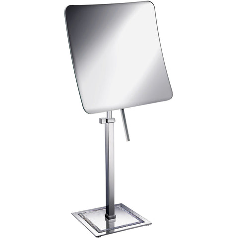 ShineLight Table 5x Square Magnifying ADJ Mirror W/ Swarovski - AGM Home Store LLC
