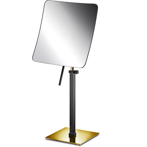 Makeup Vanity Mirror Black Countertop One-Sided Magnifying, Cosmetic and Adjustable - AGM Home Store LLC