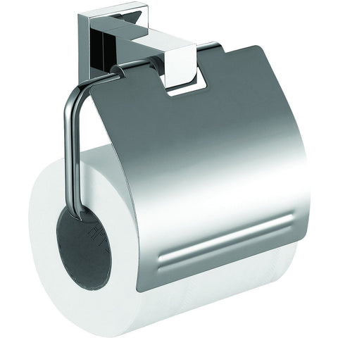 ME Cubo Toilet Paper Holder/ Roll Tissue Holder W/ Lid Cover Polished Chrome - AGM Home Store LLC