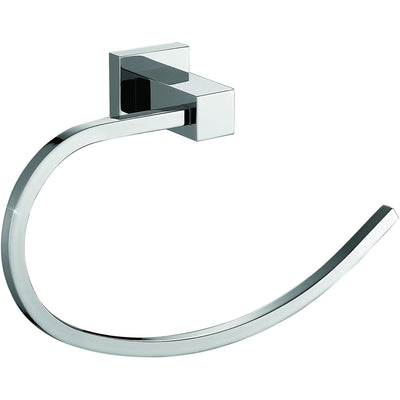 ME Cubo Brass Towel Ring Holder / Towel Hanger Open Arm, Polished Chrome - AGM Home Store LLC